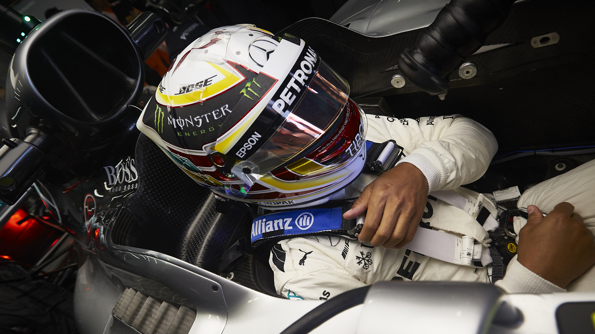 Hamilton and OMP safety belts: